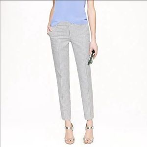 J. Crew Cafe Capri Seersucker Pants
